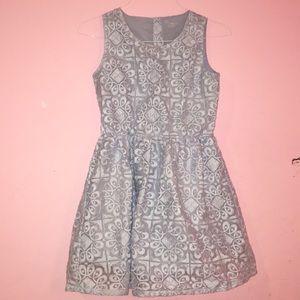 Cute periwinkle girls dress